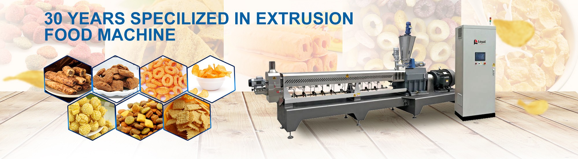 30 years specilized in extrusion food machine